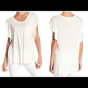 Free People NWT So Easy Tee in ivory
